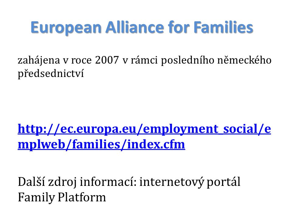 European Alliance for Families
