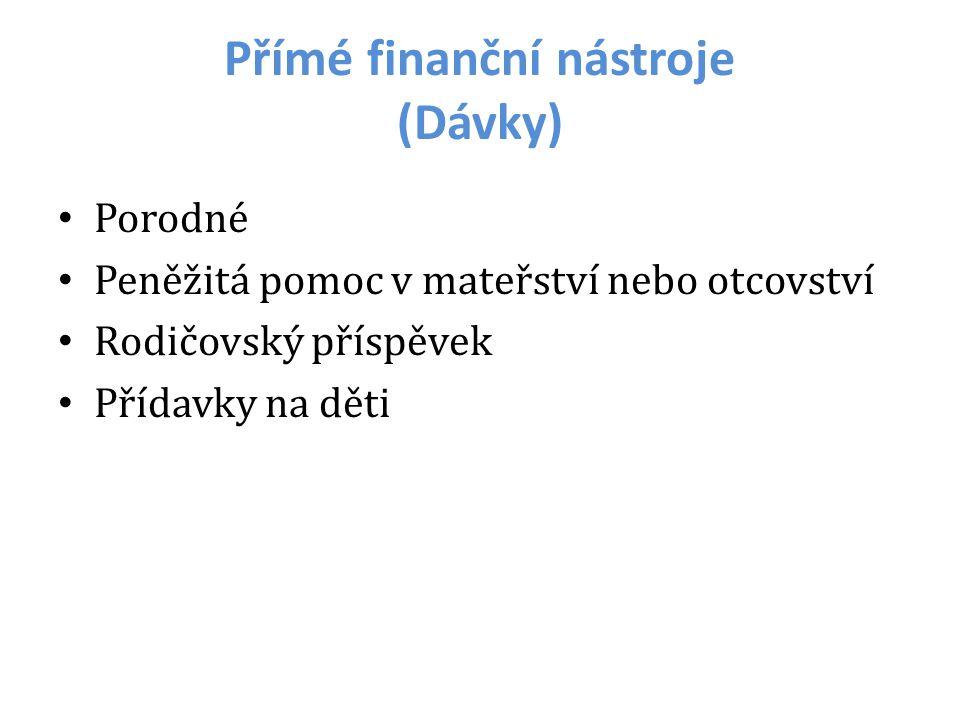 Přímé finanční nástroje (Dávky)