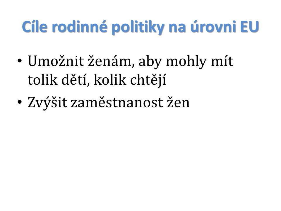 Cíle rodinné politiky na úrovni EU