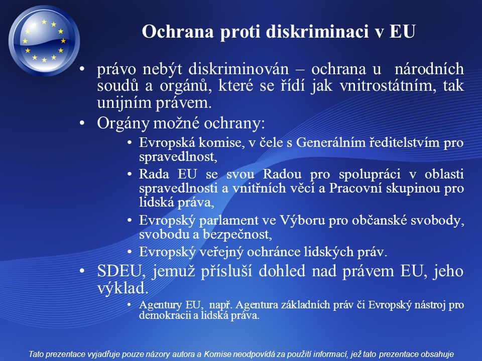Ochrana proti diskriminaci v EU