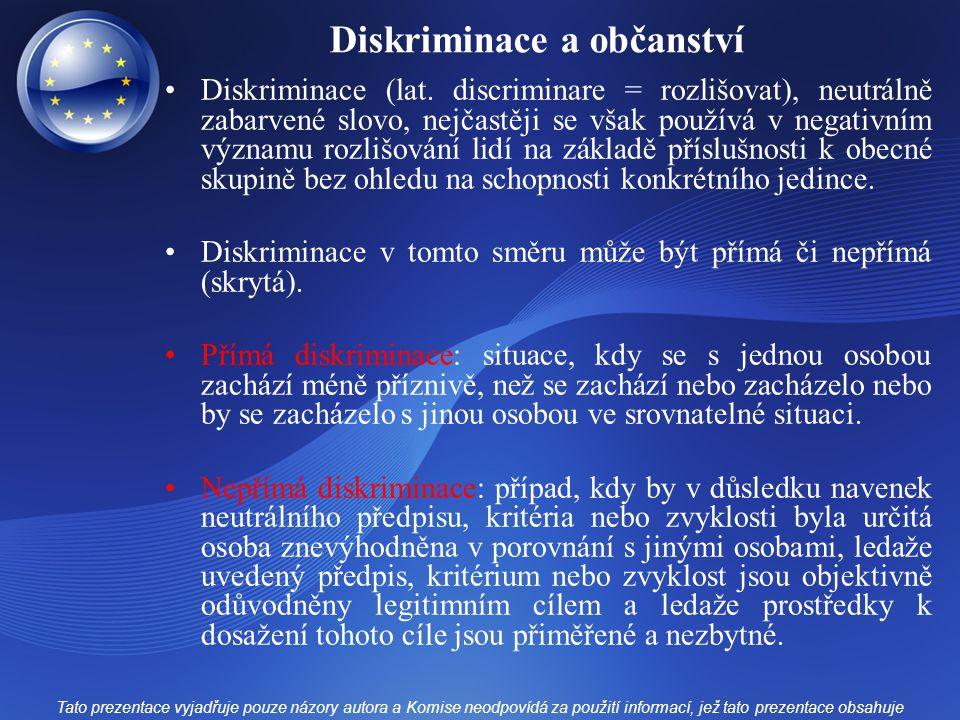 Diskriminace a občanství