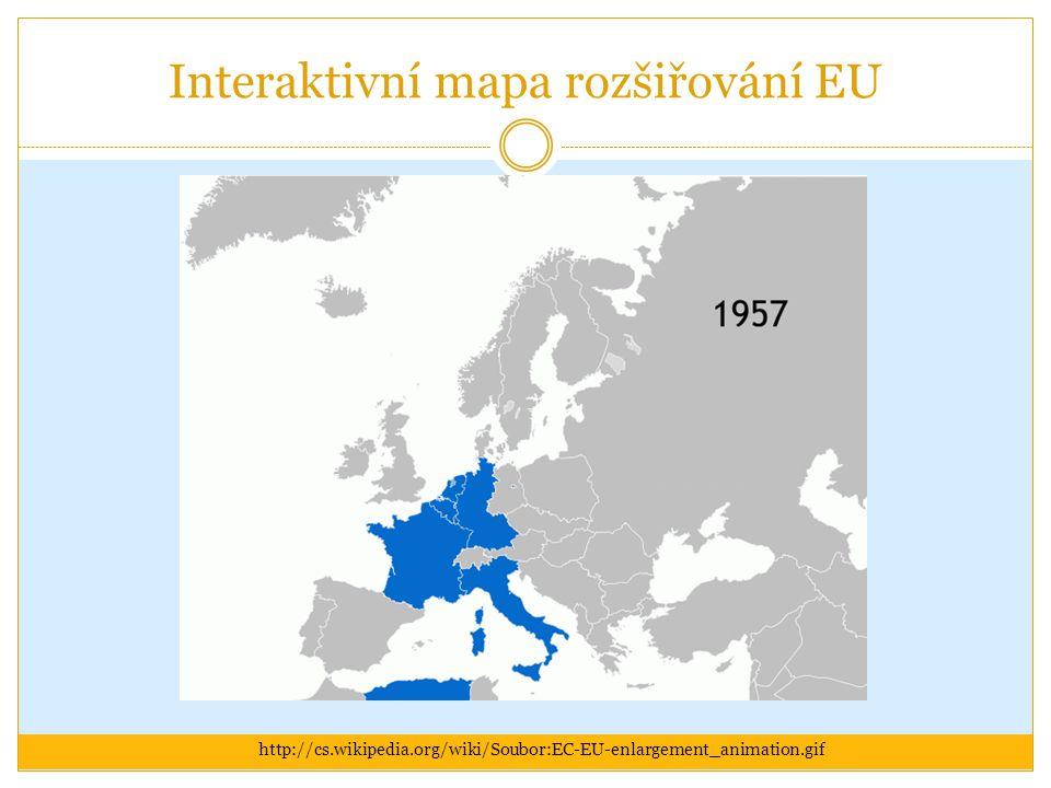 Interaktivní mapa rozšiřování EU