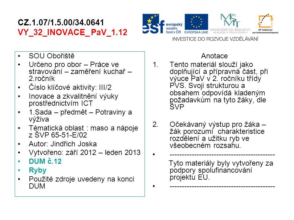 CZ.1.07/1.5.00/34.0641 VY_32_INOVACE_ PaV_1.12