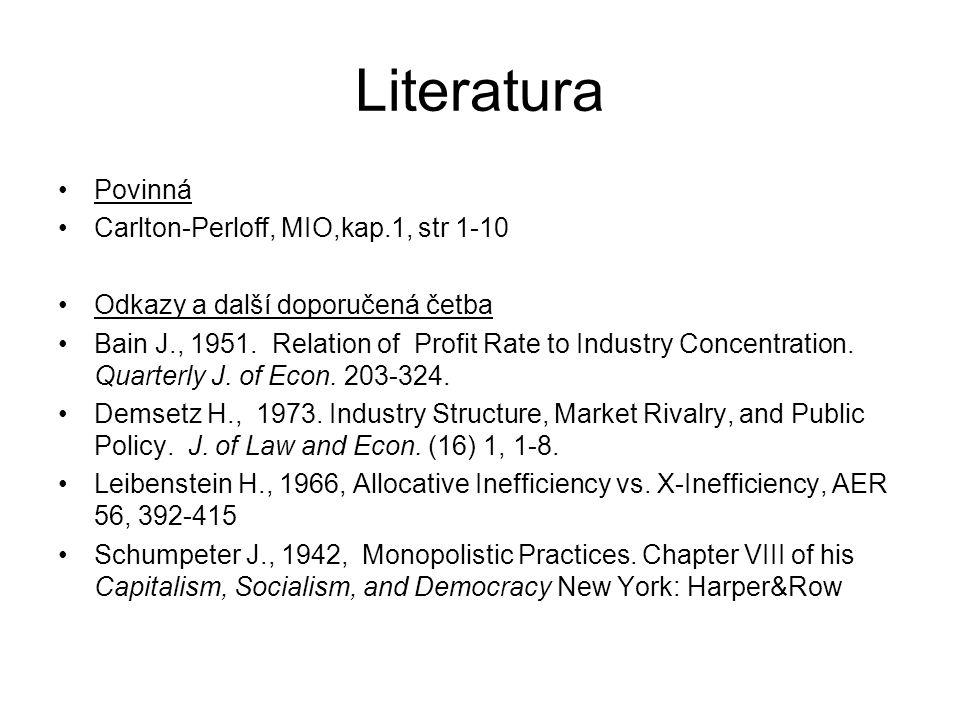Literatura Povinná Carlton-Perloff, MIO,kap.1, str 1-10
