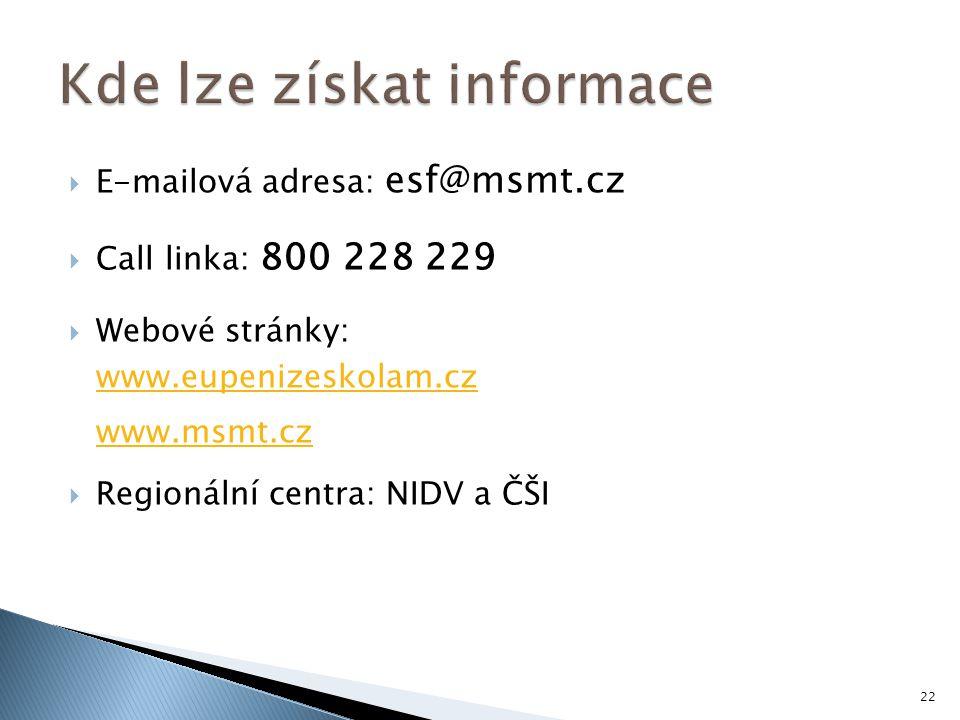 Kde lze získat informace