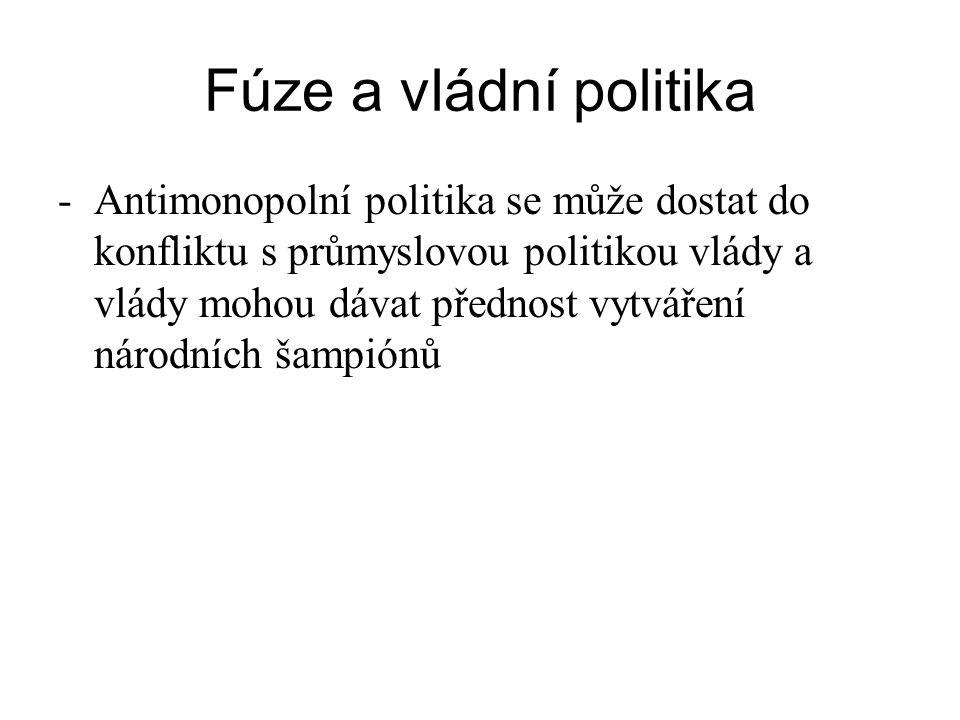 Fúze a vládní politika