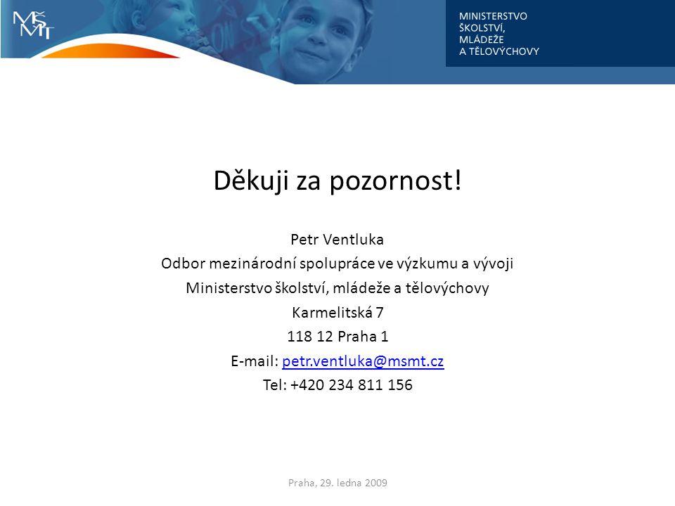Děkuji za pozornost! Petr Ventluka