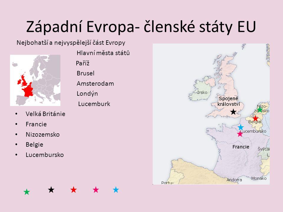 Západní Evropa- členské státy EU
