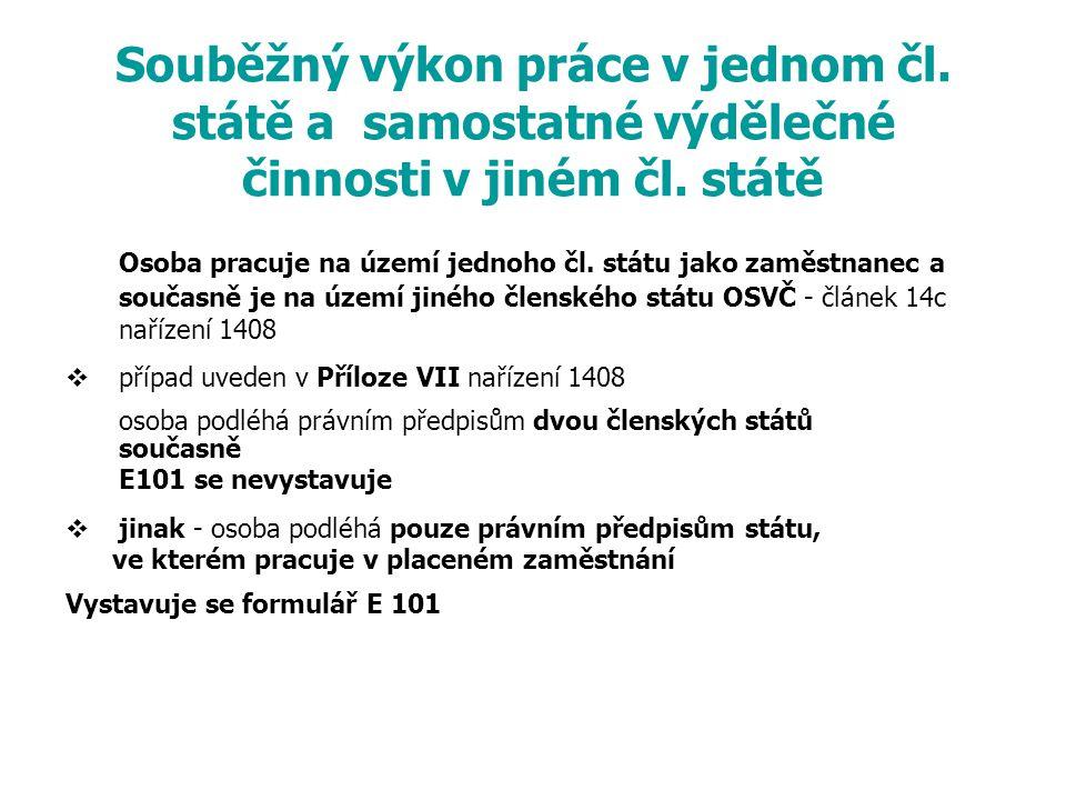 Souběžný výkon práce v jednom čl