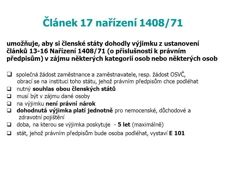 Článek 17 nařízení 1408/71