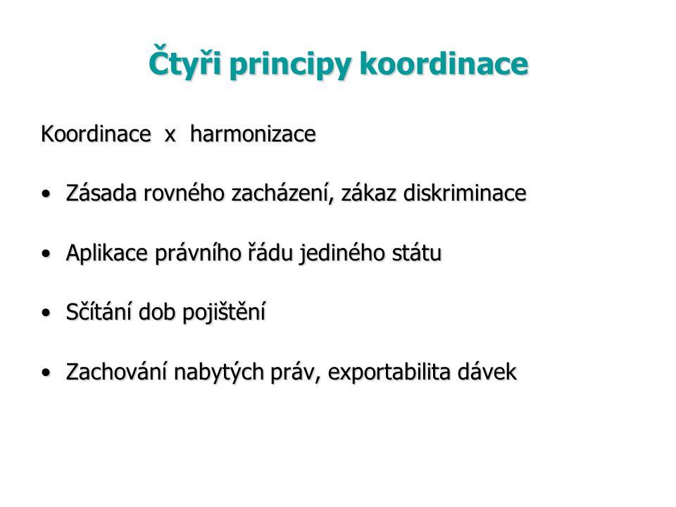 Čtyři principy koordinace