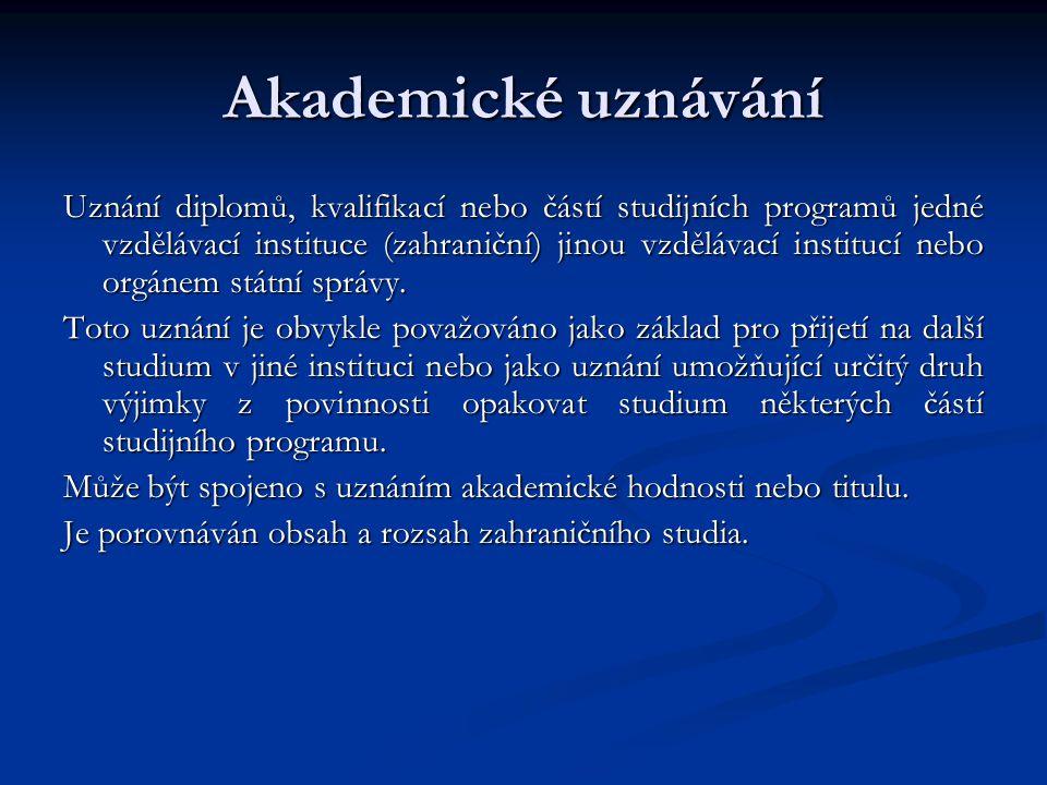 Akademické uznávání