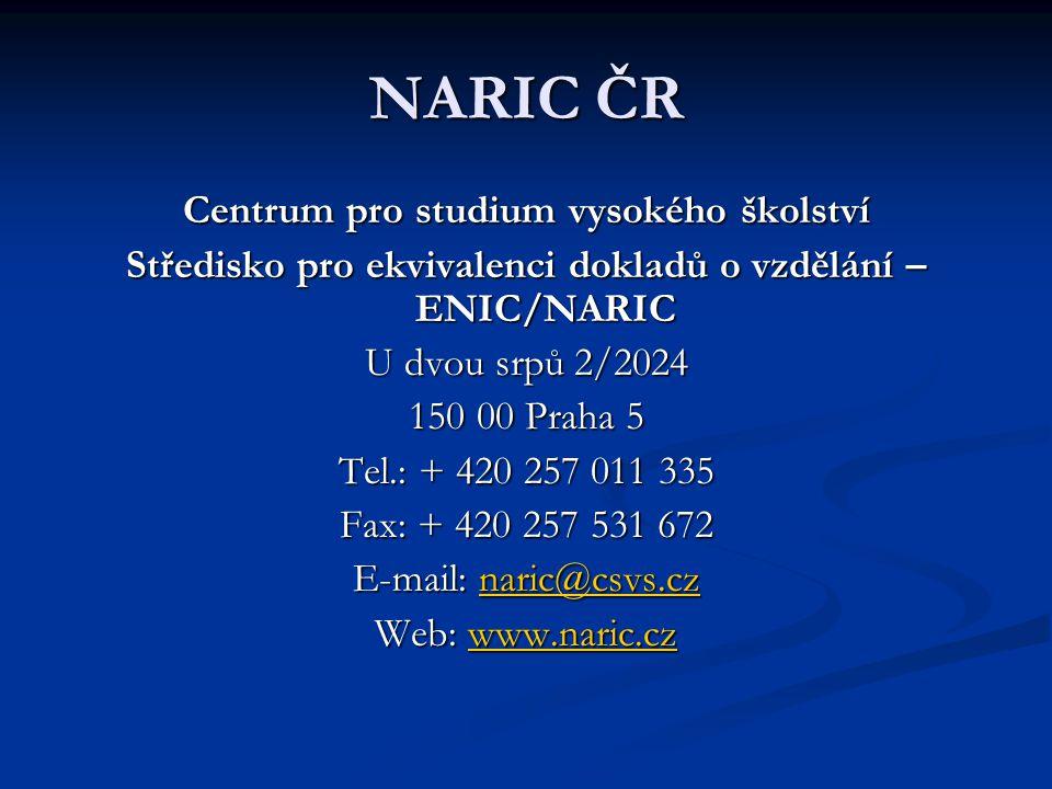 Středisko pro ekvivalenci dokladů o vzdělání – ENIC/NARIC