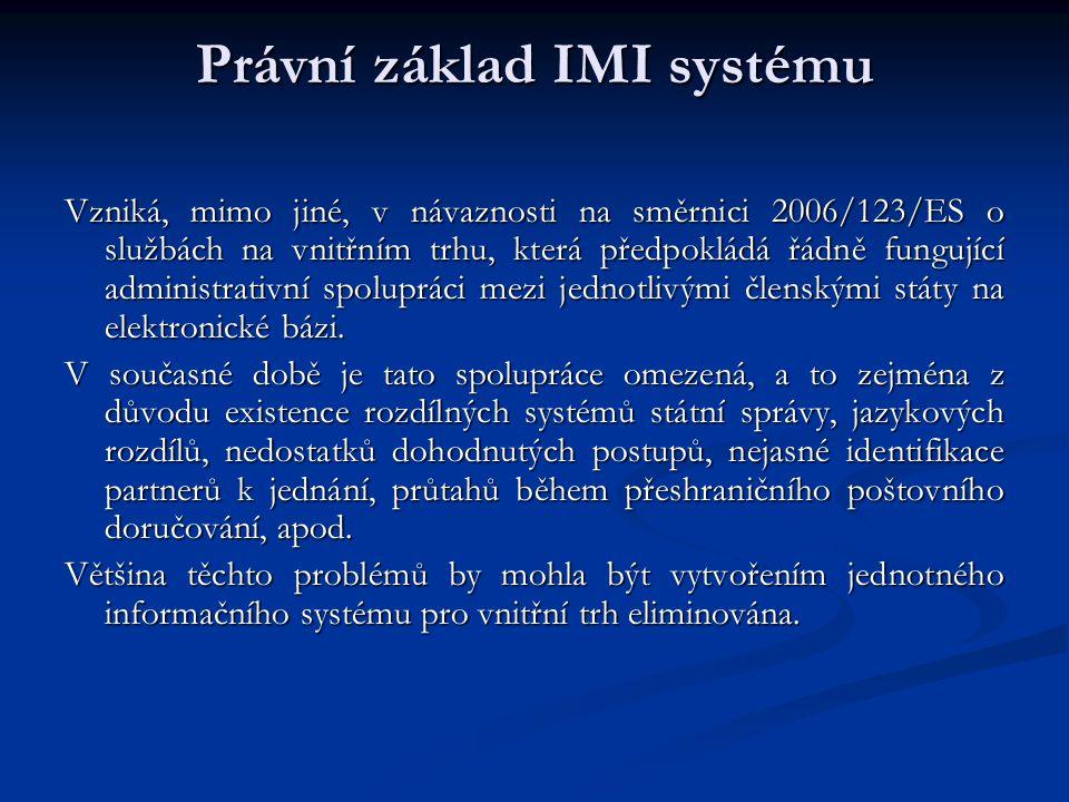 Právní základ IMI systému