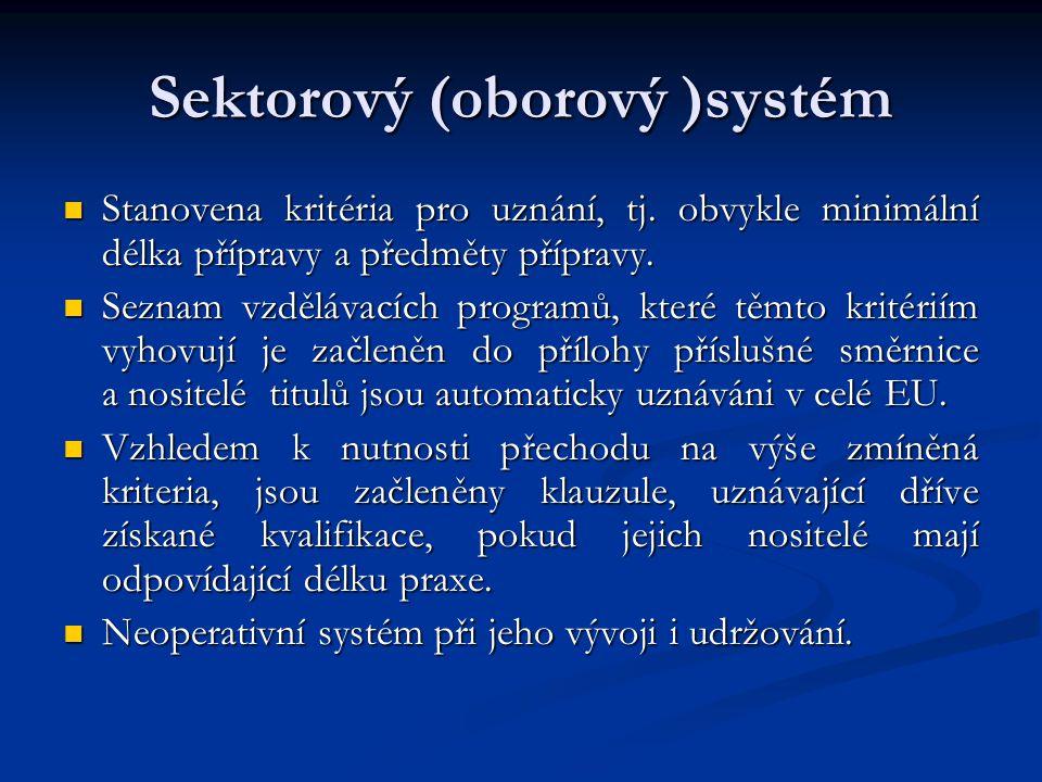 Sektorový (oborový )systém