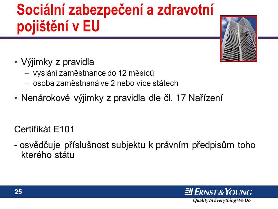 Sociální zabezpečení a zdravotní pojištění v EU