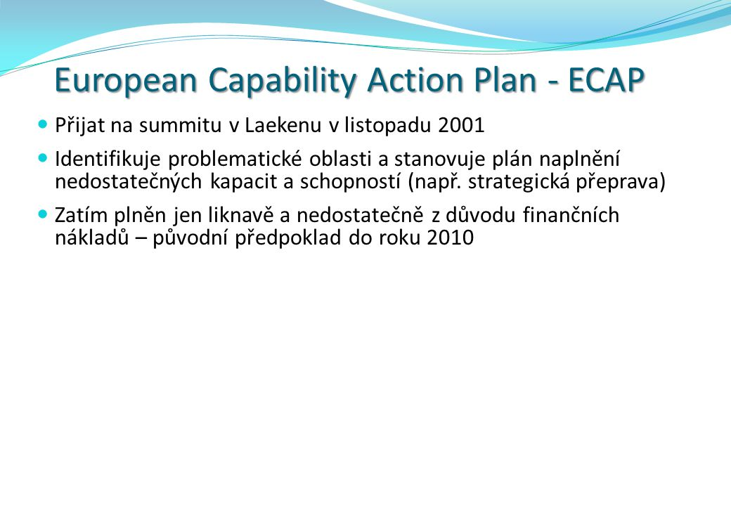 European Capability Action Plan - ECAP