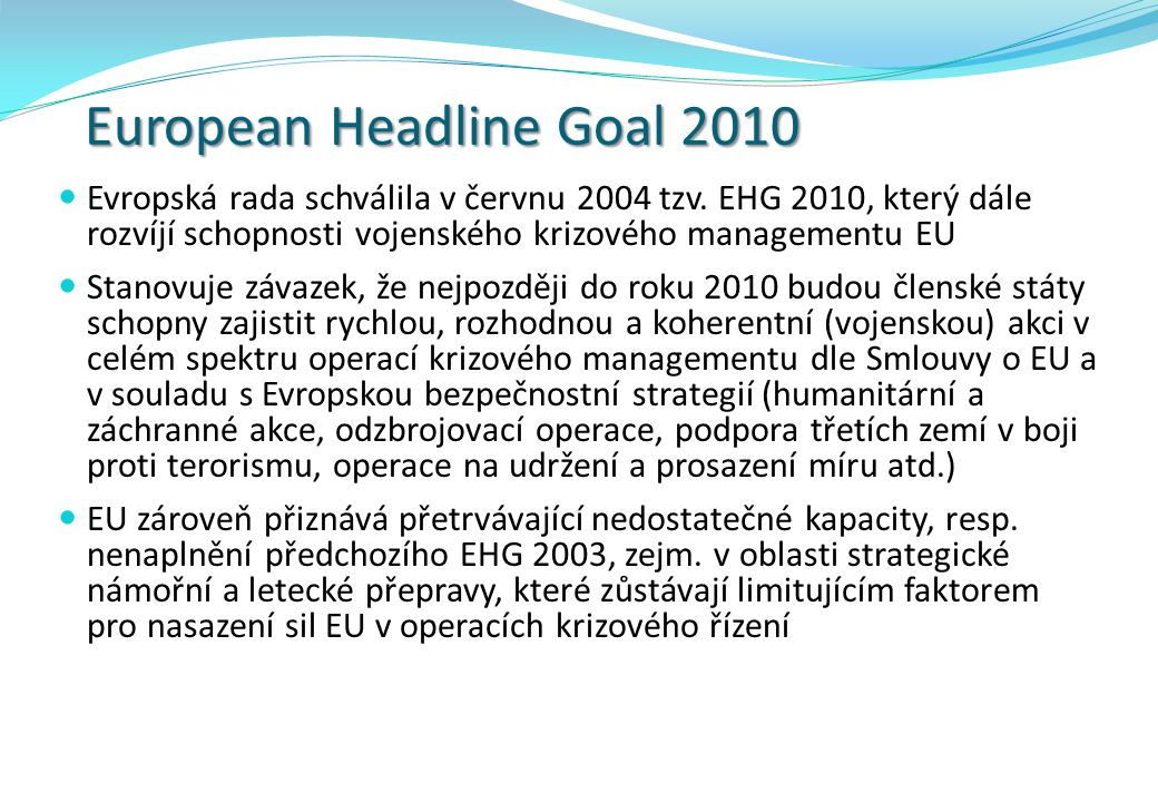 European Headline Goal 2010