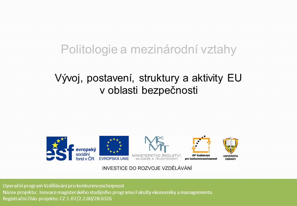 Politologie a mezinárodní vztahy