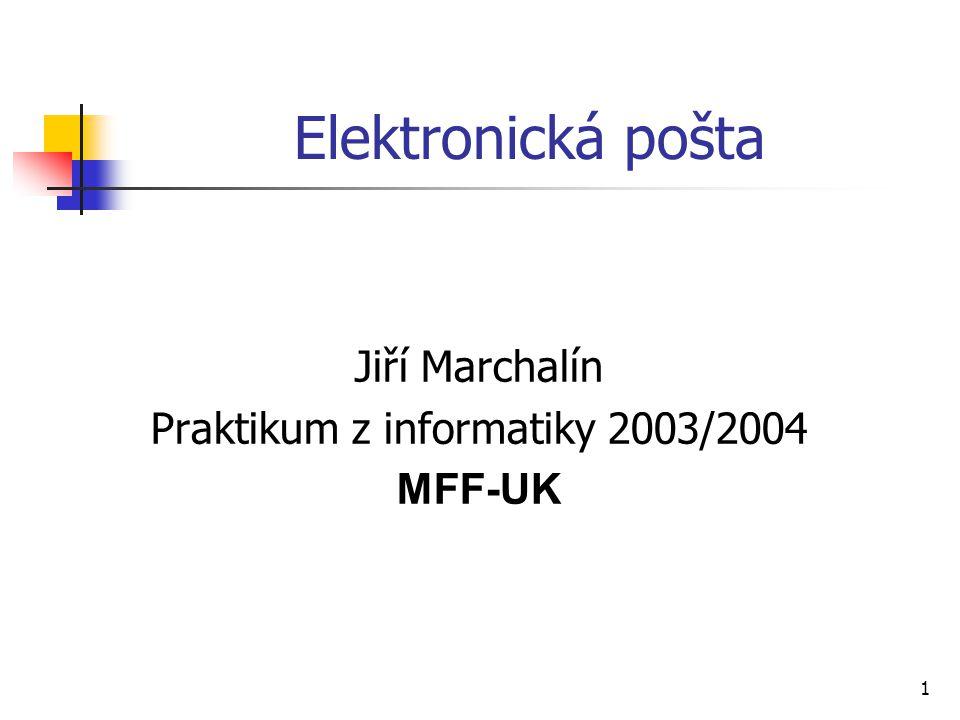Praktikum z informatiky 2003/2004