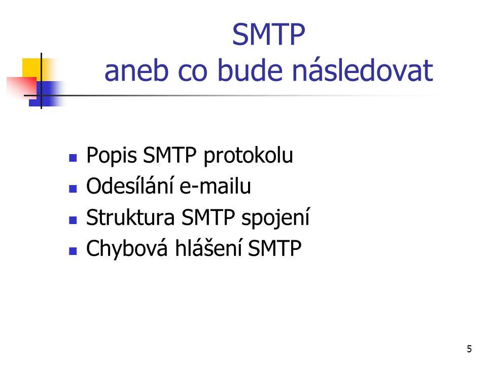 SMTP aneb co bude následovat