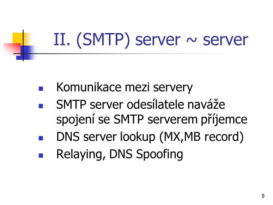 II. (SMTP) server ~ server