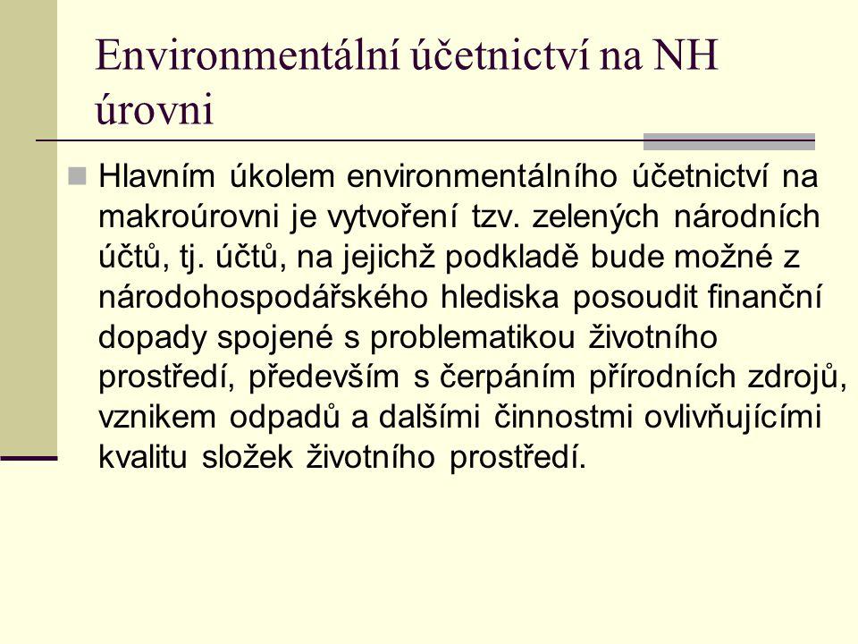 Environmentální účetnictví na NH úrovni
