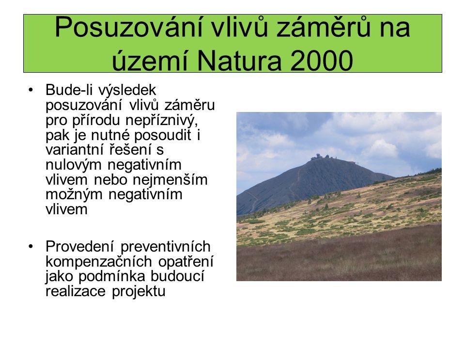 Posuzování vlivů záměrů na území Natura 2000