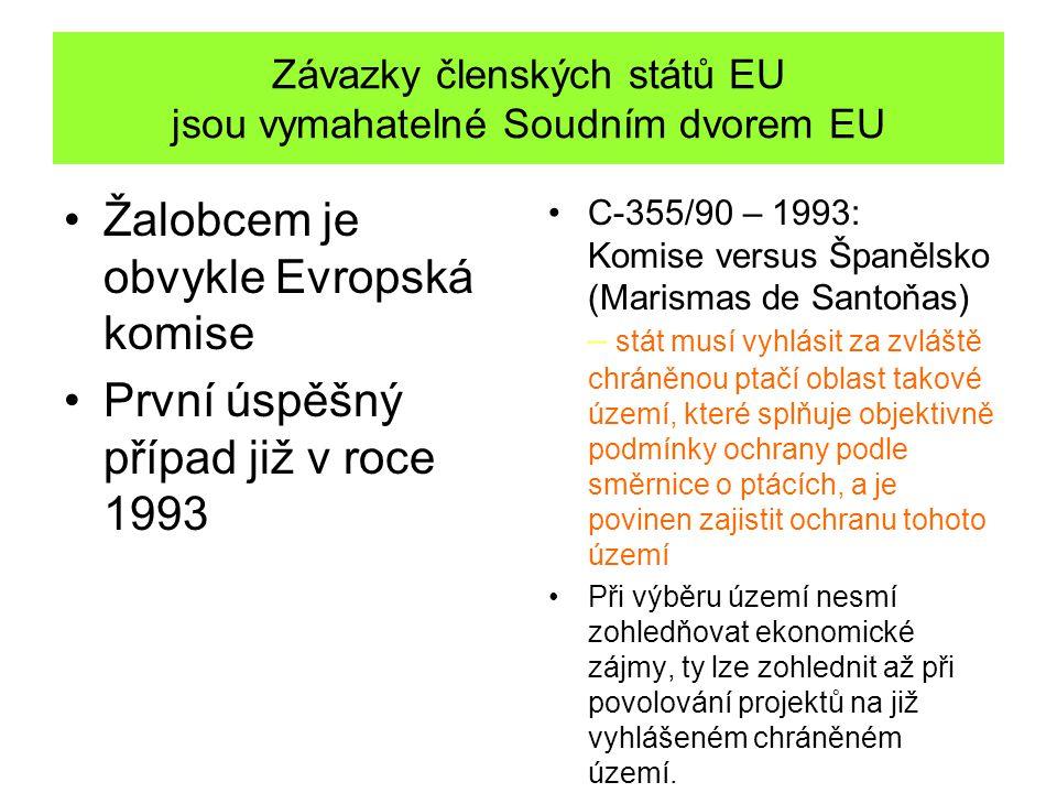 Závazky členských států EU jsou vymahatelné Soudním dvorem EU