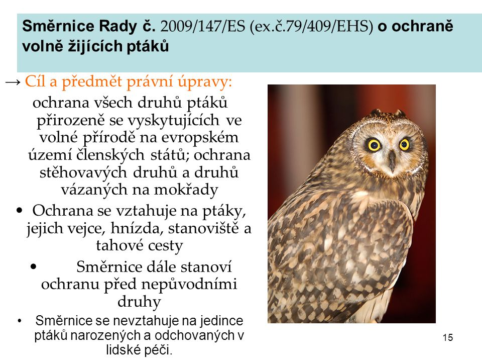 Směrnice dále stanoví ochranu před nepůvodními druhy