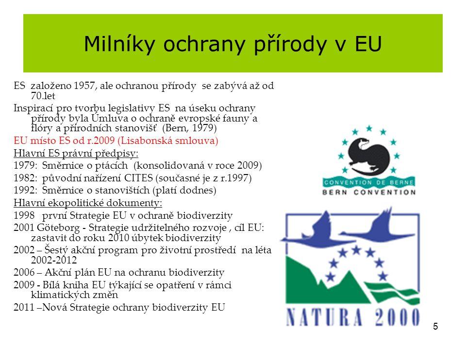 Milníky ochrany přírody v EU