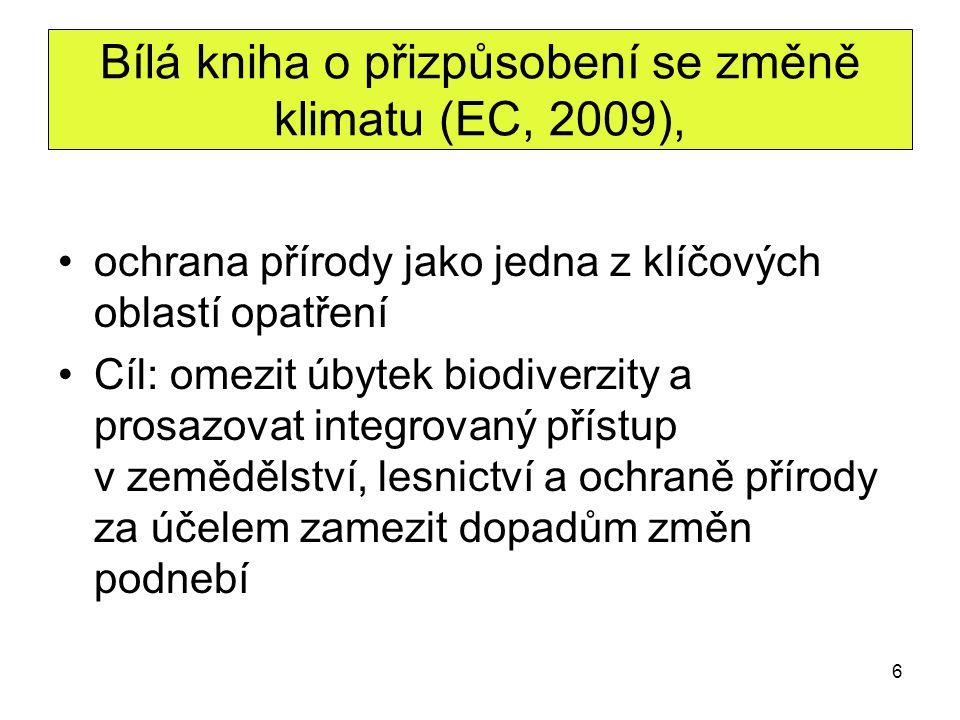 Bílá kniha o přizpůsobení se změně klimatu (EC, 2009),