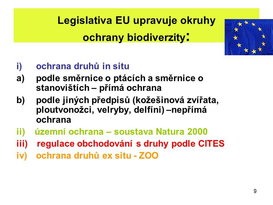 Legislativa EU upravuje okruhy ochrany biodiverzity: