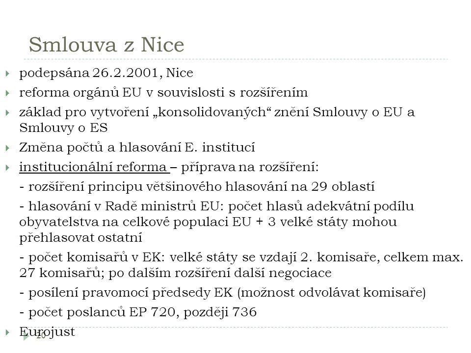 Smlouva z Nice podepsána 26.2.2001, Nice