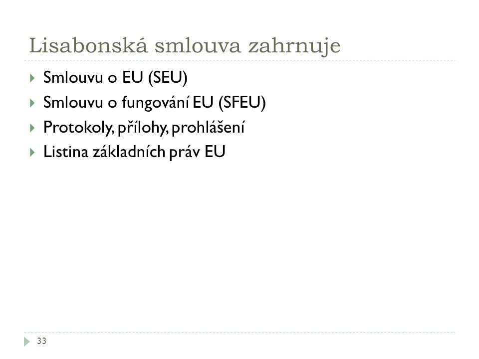 Lisabonská smlouva zahrnuje