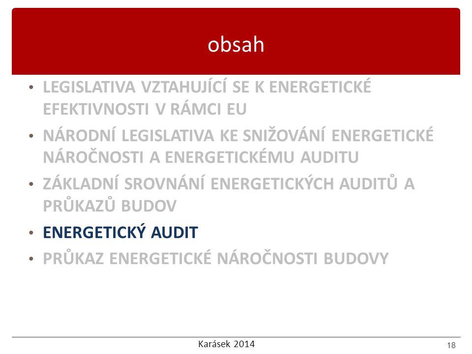 obsah LEGISLATIVA VZTAHUJÍCÍ SE K ENERGETICKÉ EFEKTIVNOSTI V RÁMCI EU