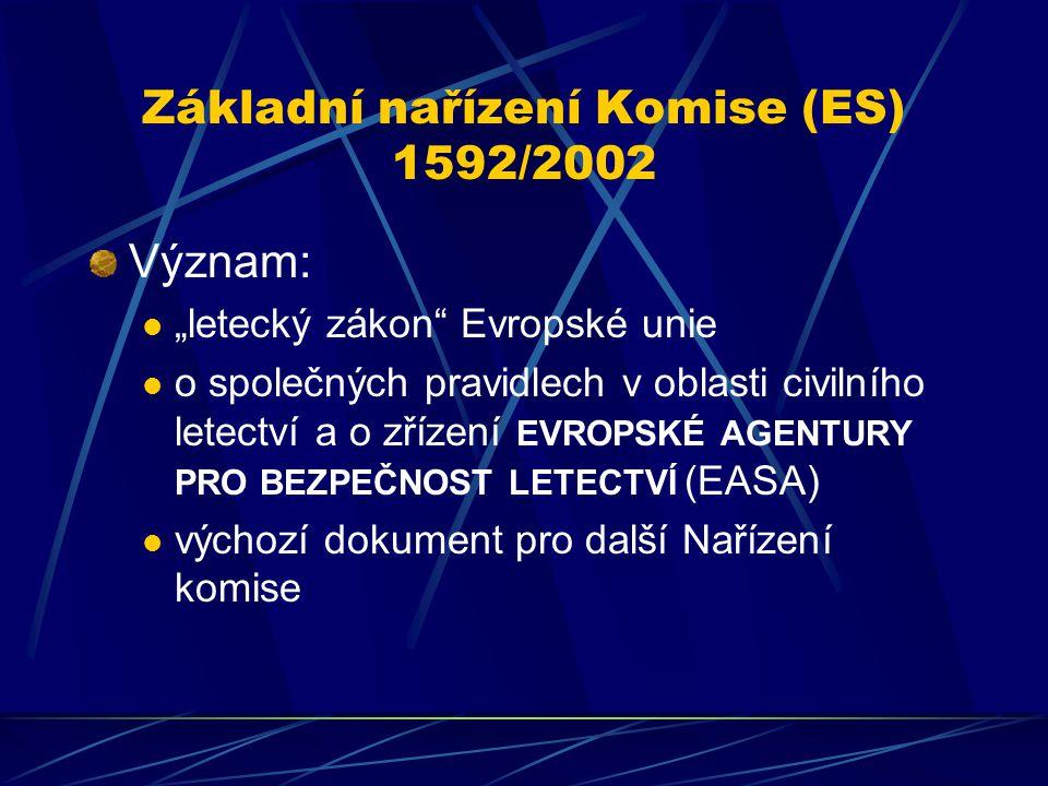 Základní nařízení Komise (ES) 1592/2002
