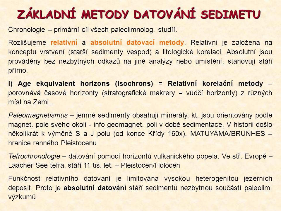 ZÁKLADNÍ METODY DATOVÁNÍ SEDIMETU