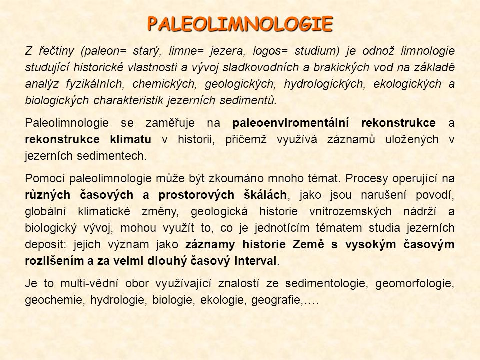 PALEOLIMNOLOGIE