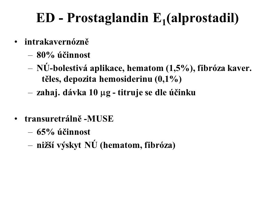 ED - Prostaglandin E1(alprostadil)