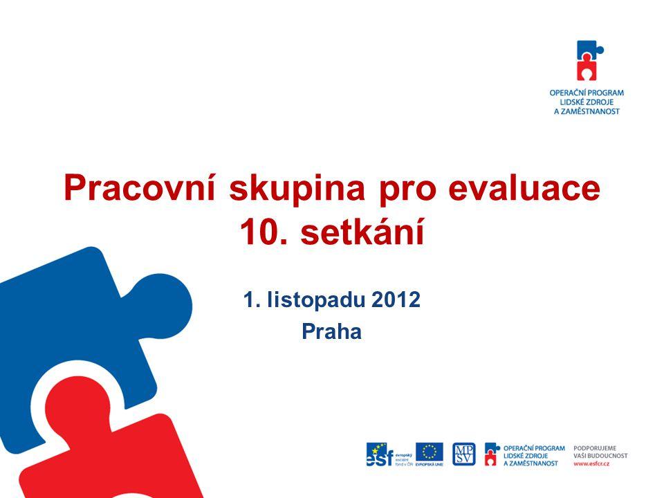 Pracovní skupina pro evaluace 10. setkání