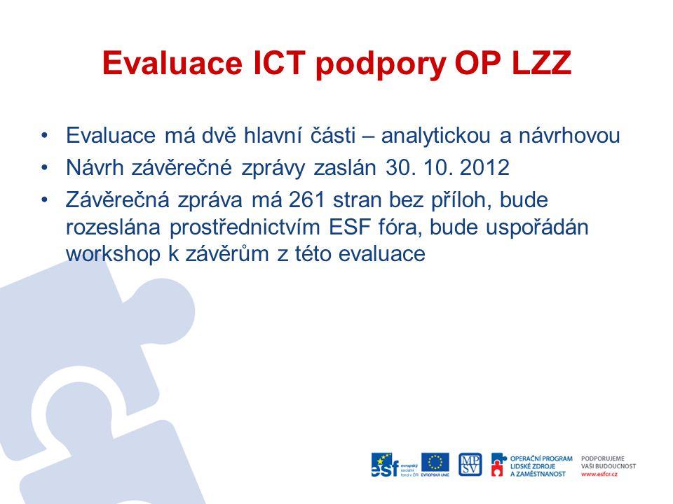 Evaluace ICT podpory OP LZZ