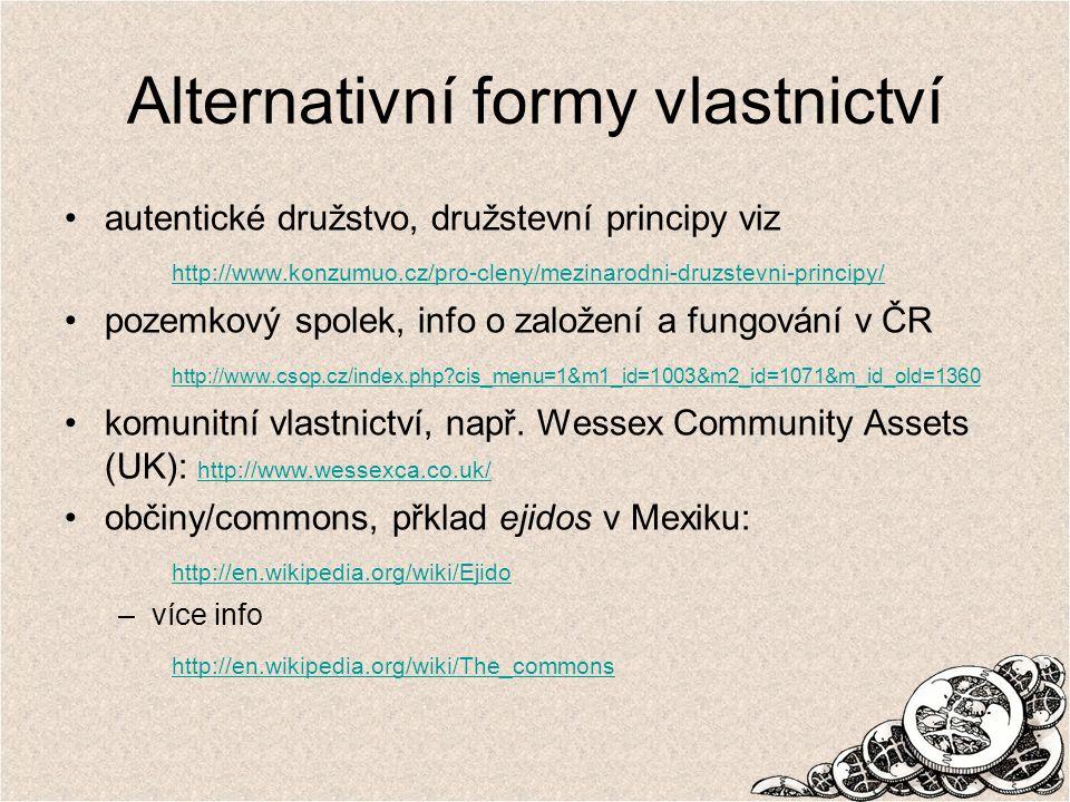 Alternativní formy vlastnictví