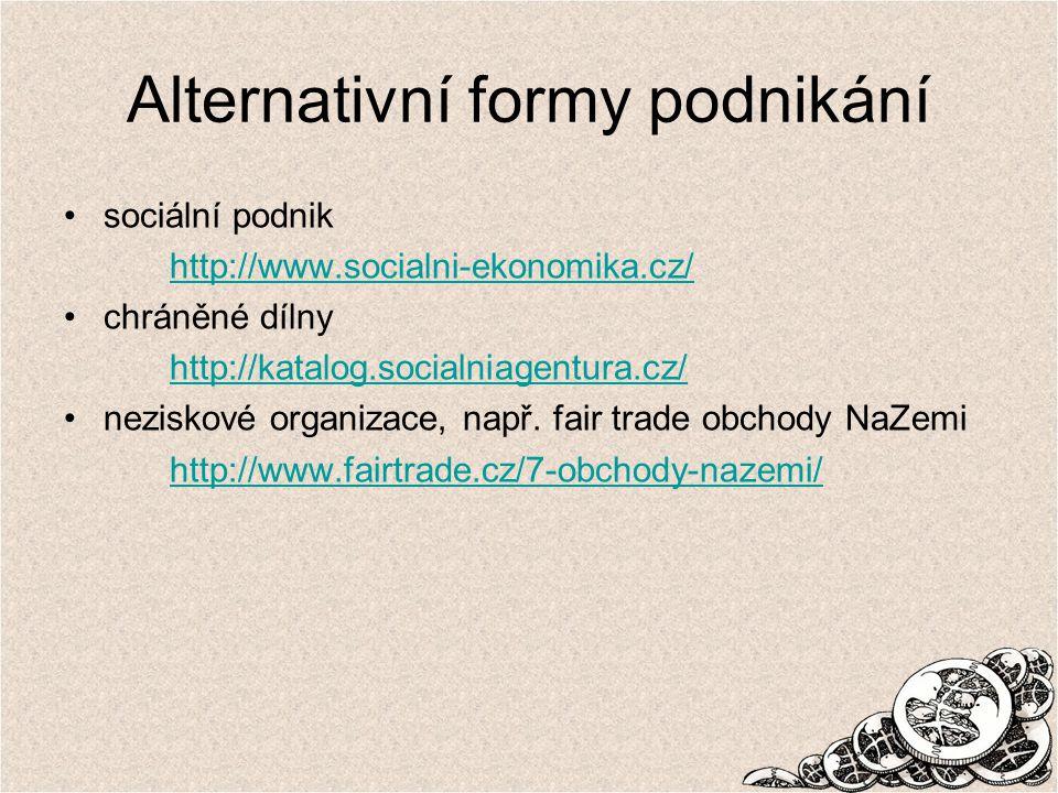 Alternativní formy podnikání