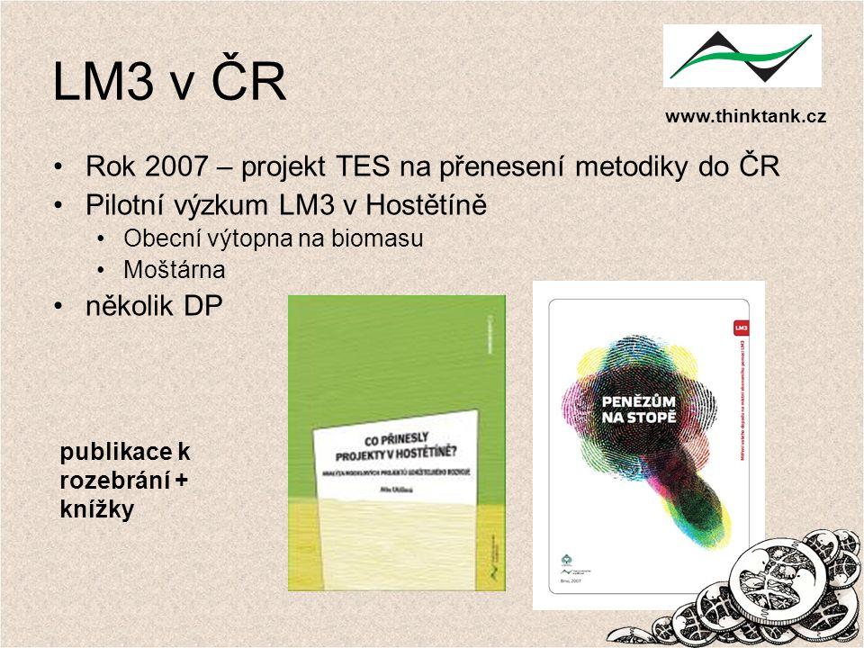 LM3 v ČR Rok 2007 – projekt TES na přenesení metodiky do ČR