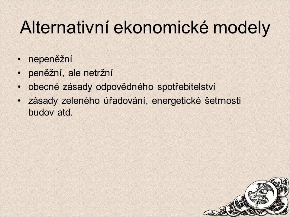 Alternativní ekonomické modely