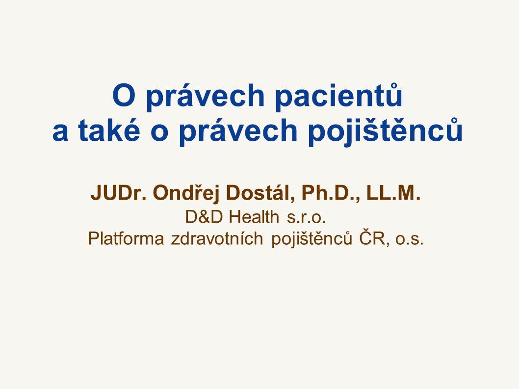 O právech pacientů a také o právech pojištěnců