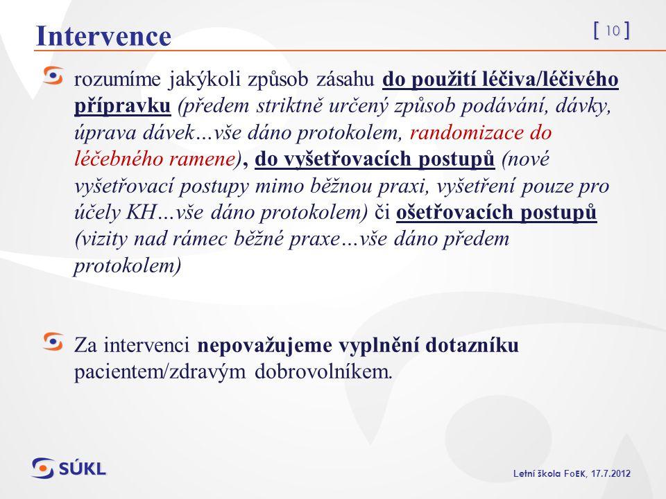 Intervence