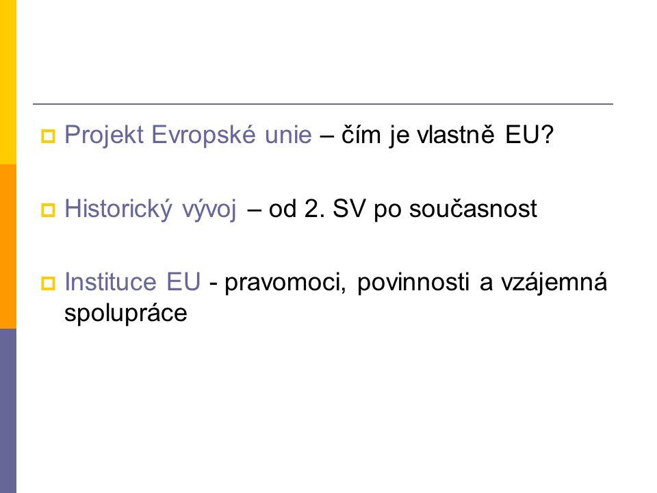 Projekt Evropské unie – čím je vlastně EU