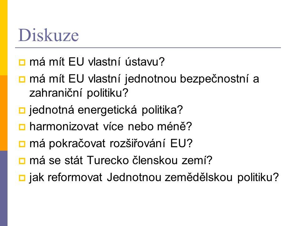 Diskuze má mít EU vlastní ústavu